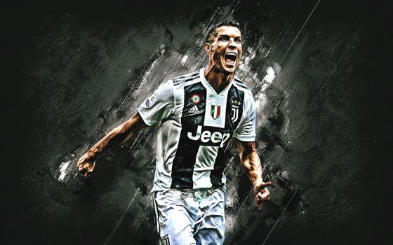 Photo free Cristiano Ronaldo, Juventus, soccer player