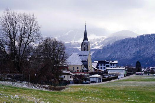 Фото бесплатно природа, церковь, Альпы