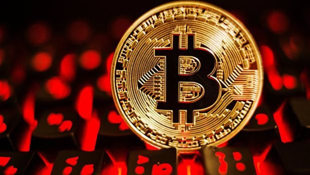 Photo free Bitcoin, keyboard, red buttons