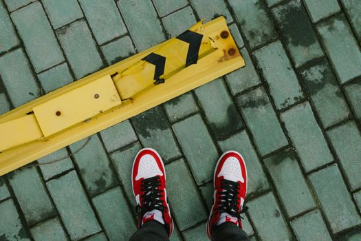 Sneakers and pavers · free photo