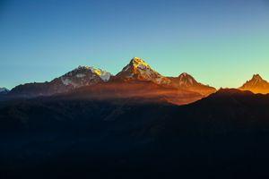 Фото бесплатно горы, Непал, закат