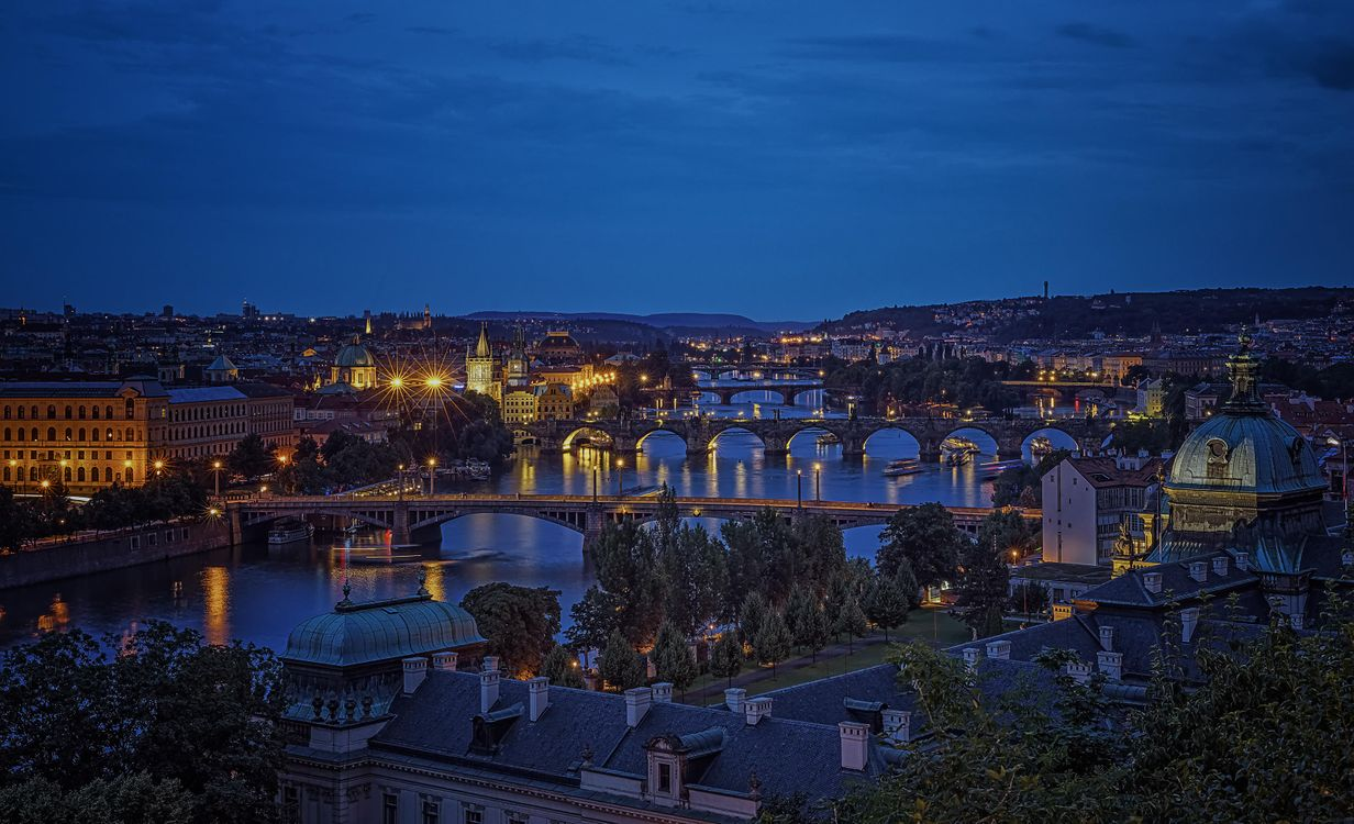 Фото бесплатно Прага, Чехия, Река Влтава, город
