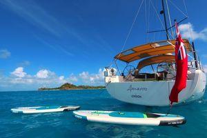Фото бесплатно море, яхта, остров