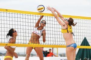 Фото бесплатно волейбол, пляжный, девушки