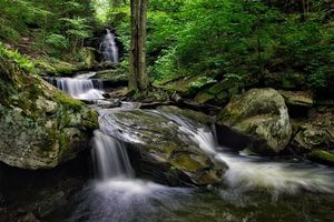 Фото бесплатно Пенсильвания, скалы, водопад