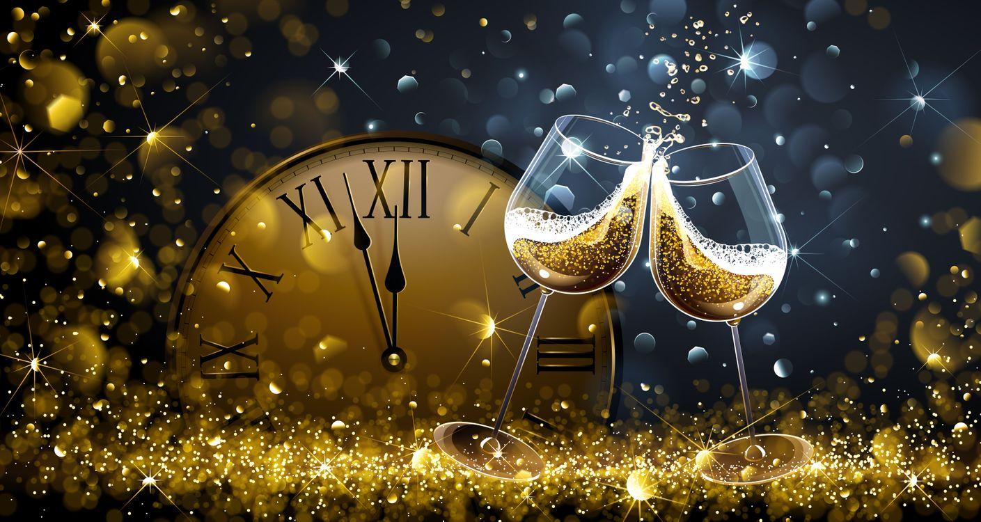 Фото бесплатно дизайн, новогодние обои, часы - на рабочий стол
