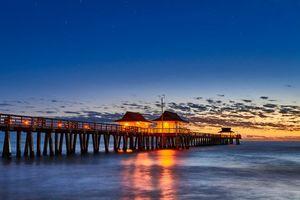 Фото бесплатно Неаполь Пирс, Флорида, закат