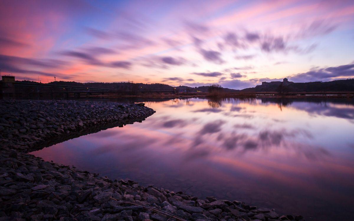 Фото сумерки отражение природа - бесплатные картинки на Fonwall