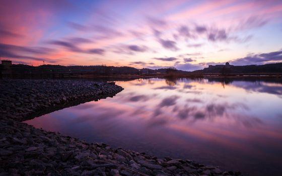 Фото бесплатно сумерки, отражение, природа