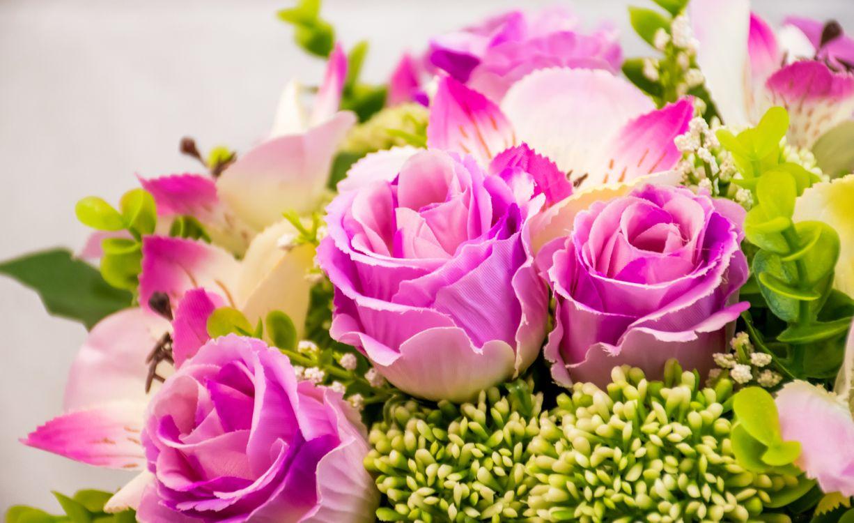 Фото бесплатно роза, букет, красочный, розы, цветок, цветы, цветочный - на рабочий стол