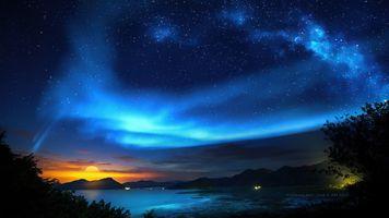 Фото бесплатно абстракция, природа, ночь