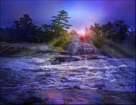 Фото бесплатно Burleigh Falls, Canada, закат