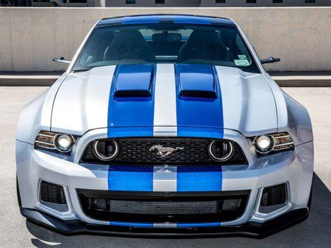 Фото бесплатно Ford Mustang GT, передний план, мускул