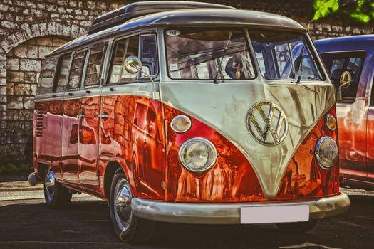 Photo free Volkswagen, minibus, retro cars