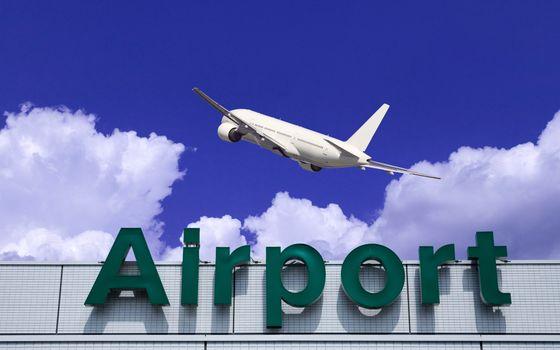 Photo free airport, airplane, sky