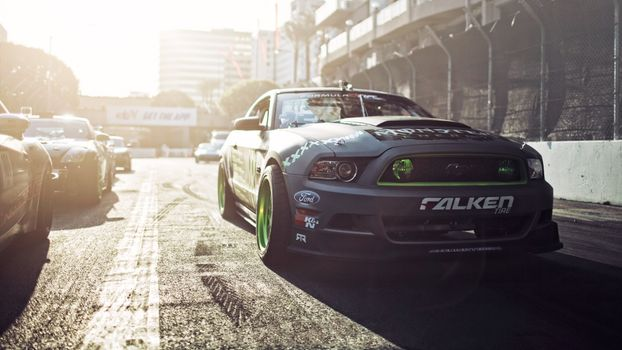 Фото бесплатно гонки, передний план, Ford Mustang