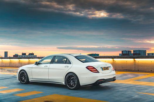 Фото бесплатно Mercedes, белый, седан