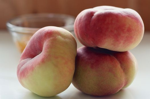 Photo free peaches, fruits, Different shape