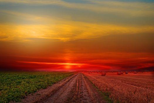 Фото бесплатно сельский, пейзаж, небо