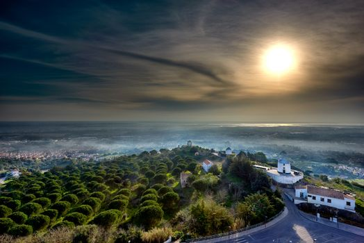 Фото бесплатно города, Португалия, туман