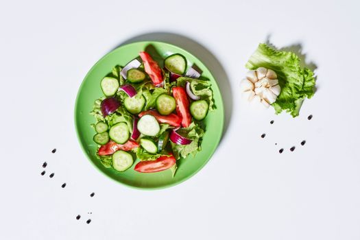 Photo free food, black pepper, salads