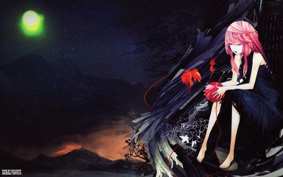 Фото бесплатно Инори yuzuriha, Guilty корона, ночь