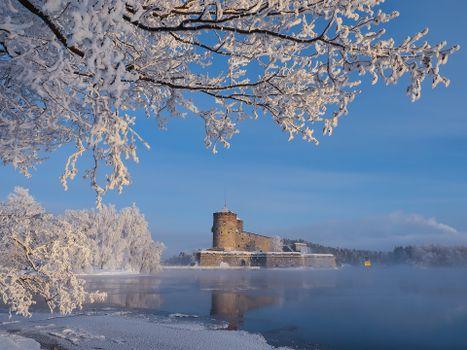 Бесплатно замок святого олафа, финляндия - фото красивые