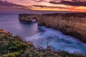 Бесплатные фото Ущелье Лох-Ард,Великая океанская дорога,Австралия,закат,море,скалы,пейзаж