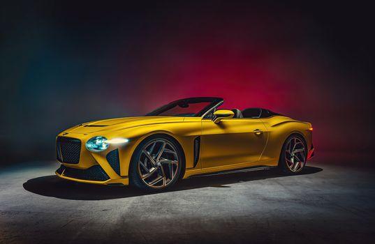 Фото бесплатно Bentley, желтый, автомобили