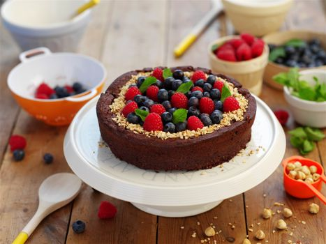 Обои berries,cake,sweet,dessert