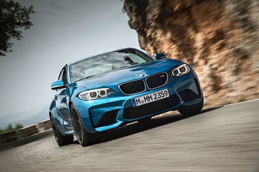 Photo free bmw m2, front view, blue