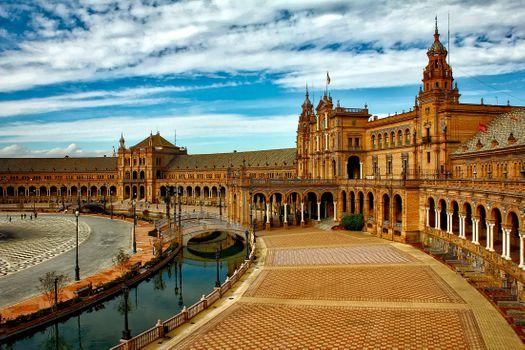 Фото бесплатно Испании площадь, Севилья, Испания