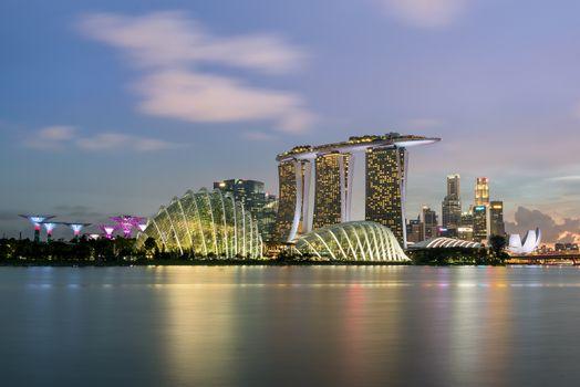 Бесплатные фото сингапур,небоскребы,панорама,singapore,skyscrapers,panorama