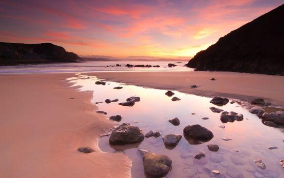 Фото бесплатно горы, небо, пляж