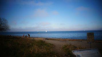 Фото бесплатно солнечный свет, люди, закат