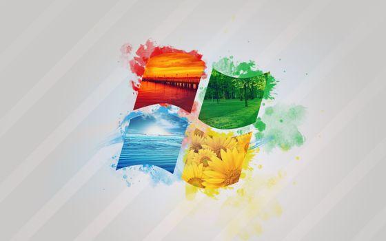 Photo free Windows, logo, nature