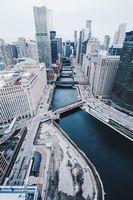 Бесплатные фото Чикаго, США, небоскребы, мосты, вид сверху, chicago, united states
