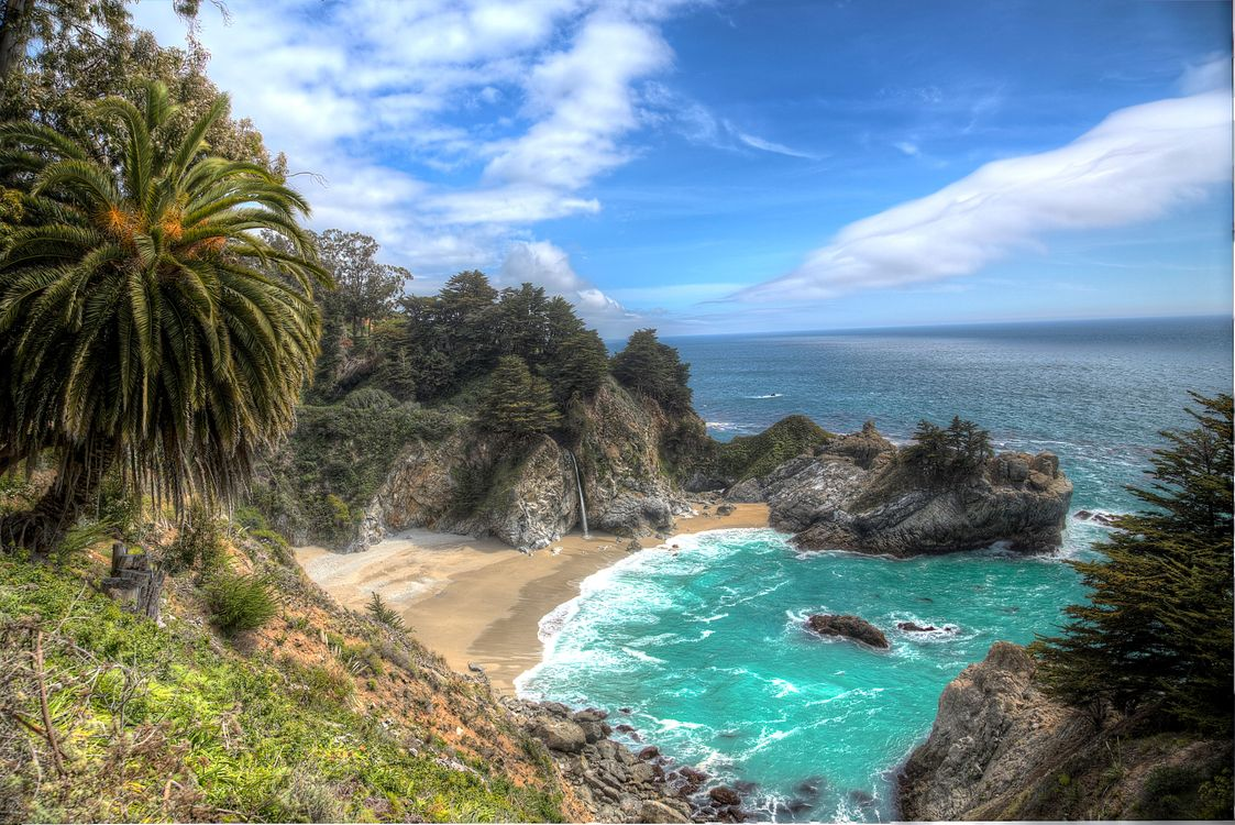 Photos for free sea, California, McWay Cove Beach - to the desktop