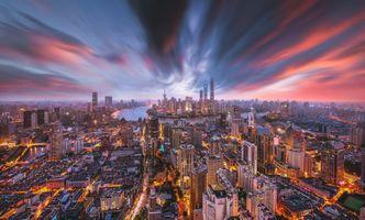 Фото бесплатно Шанхай, Мегаполис, город