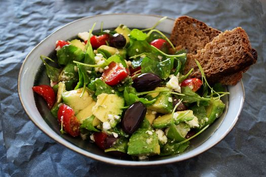 Photo free bowl, salad, avocados