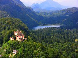 Бесплатные фото Германия,Bavaria,Замок Нойшванштайн,сказочный замок,Хоэншвангау,форт,Фортесс