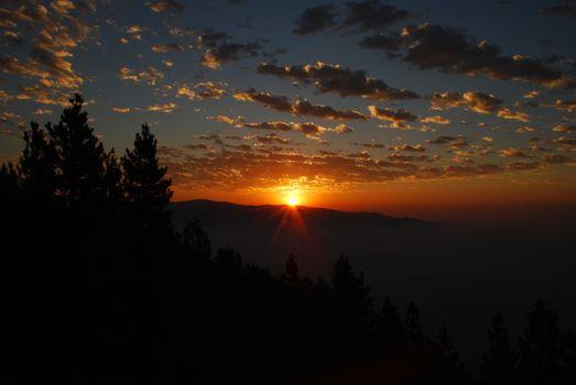 Фото бесплатно горы, Восход, облака