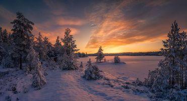Зимняя Норвегия · бесплатное фото
