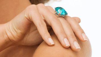 Photo free hand, stone, blue