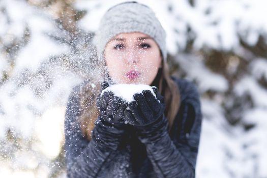 Фото бесплатно снег, зима, женщина