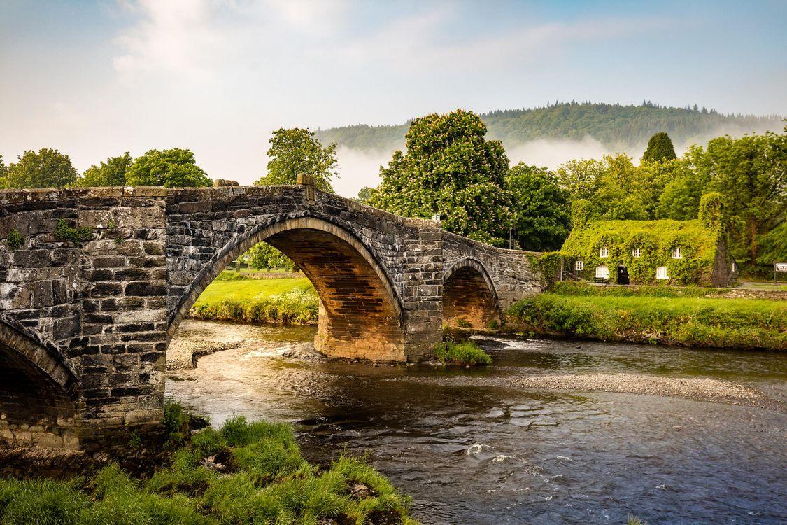 Фото Уэльс мост река - бесплатные картинки на Fonwall