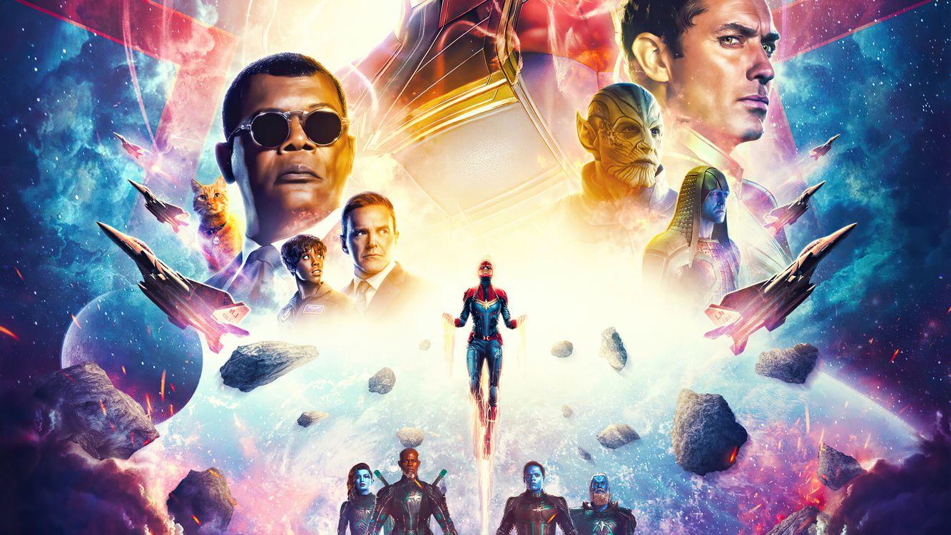 Фото бесплатно Captain Marvel, супергерои, художника - на рабочий стол
