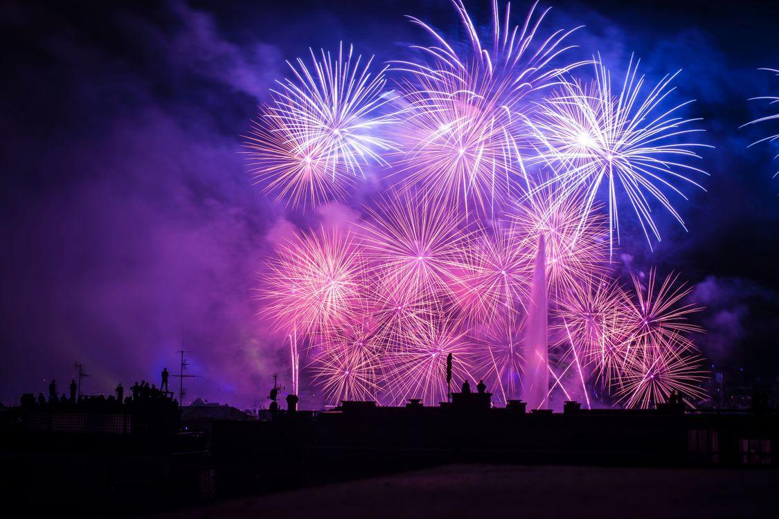 Фото бесплатно салют, ночь, фейерверк, красивая, salute, night, fireworks, beautiful, новый год