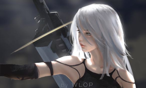 Photo free video games, white hair, fantasy girl