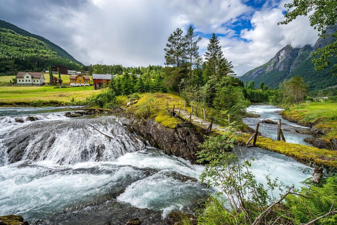 Фото бесплатно Стрюн, Норвегия, Скандинавия - на рабочий стол